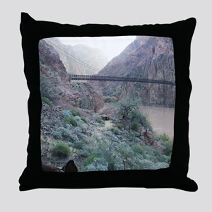 Bright Angel Mule Ride To Phantom Ran Throw Pillow