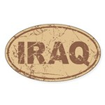 Iraq Auto Sticker (Oval)