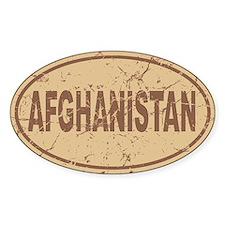 Afghanistan Auto Sticker (Oval)