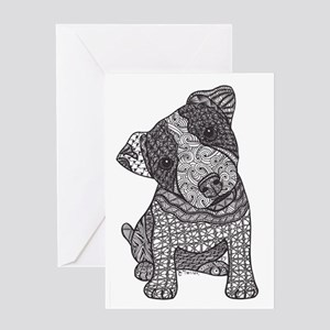 Jack Russell Pup Greeting Cards