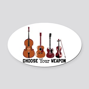 Choose Your Weapon Oval Car Magnet
