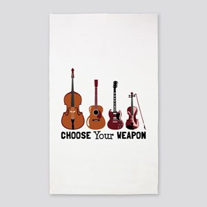 Choose Your Weapon 3'x5' Area Rug