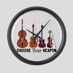 Choose Your Weapon Large Wall Clock