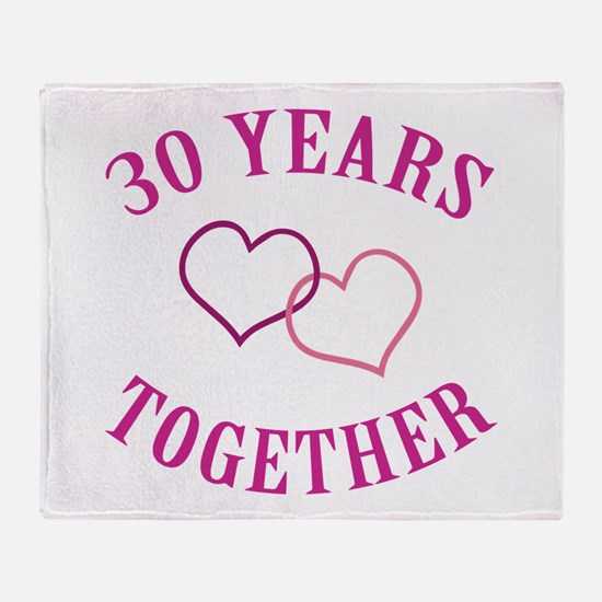 30th Anniversary Two Hearts Throw Blanket