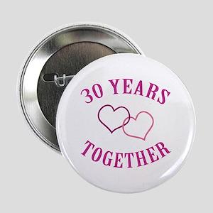 "30th Anniversary Two Hearts 2.25"" Button"