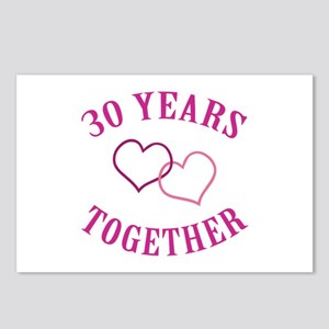 30th Anniversary Two Hearts Postcards (Package of