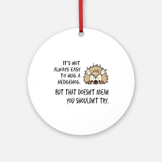 Hug a Hedgehog Ornament (Round)