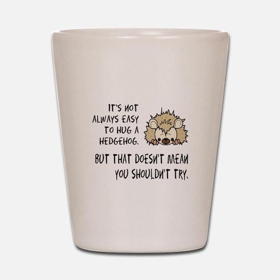 Hug a Hedgehog Shot Glass