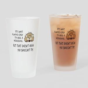 Hug a Hedgehog Drinking Glass