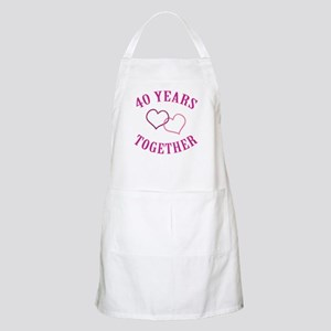 40th Anniversary Two Hearts Apron