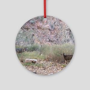 Phantom Ranch Deer Round Ornament