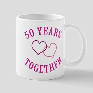 50th Anniversary Two Hearts Mug