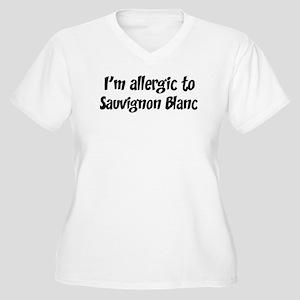 Allergic to Sauvignon Blanc Women's Plus Size V-Ne