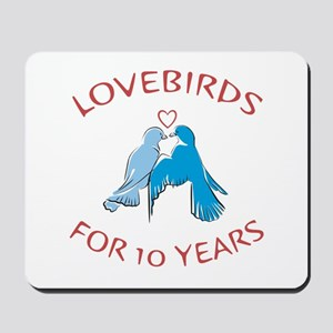 10th Anniversary Lovebirds Mousepad