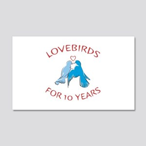 10th Anniversary Lovebirds 20x12 Wall Decal