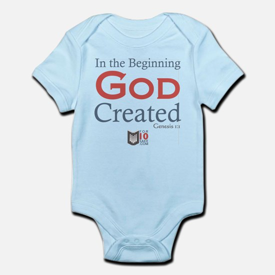 In the Beginning God Created Body Suit