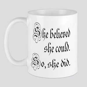 She Believed She Could Medieval Mug