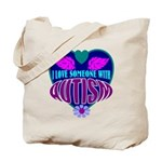 autism heart Tote Bag