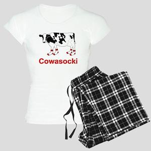 Milk Cow in Socks - Cowasocki Cow A Socky Pajamas