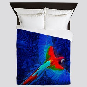 Blue Winged Macaw Queen Duvet
