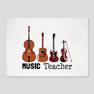 Music Teacher 5'x7'Area Rug