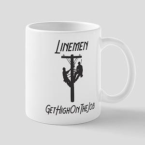 Linemen Get High On The Job Mugs