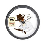 Wanted Dead Or Alive, JRT Humor Wall Clock