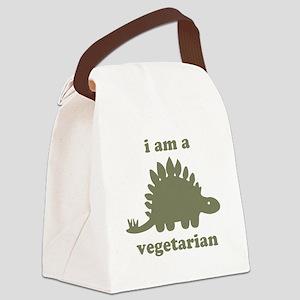 Vegetarian Stegosaurus Dinosaur - Green Canvas Lun