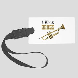 I Kick Brass Luggage Tag