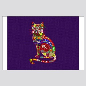 Patchwork Cat Large Poster