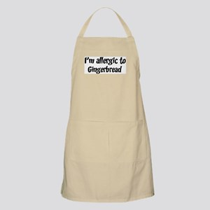 Allergic to Gingerbread BBQ Apron