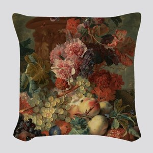 Jan van Huysum - Fruit Woven Throw Pillow