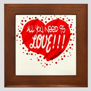 All You Need Is Love-The Beatles Framed Tile