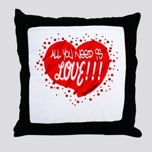 All You Need Is Love-The Beatles Throw Pillow