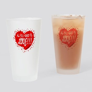 All You Need Is Love-The Beatles Drinking Glass