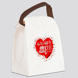 All You Need Is Love-The Beatles Canvas Lunch Bag