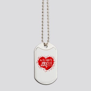 All You Need Is Love-The Beatles Dog Tags
