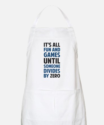 Dividing By Zero Is Not A Game Apron