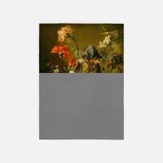 Jan van Huysum - Vase of Flower 5'x7'Area Rug