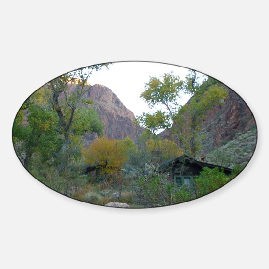 South Rim Grand Canyon Phantom Ranc Sticker (Oval)