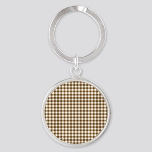Brown Gingham Keychains