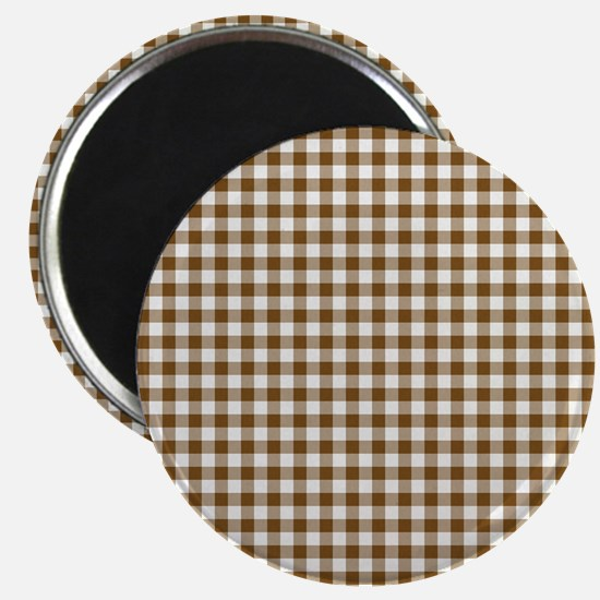 Brown Gingham Magnets