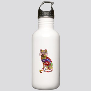 Patchwork Cat Stainless Water Bottle 1.0L