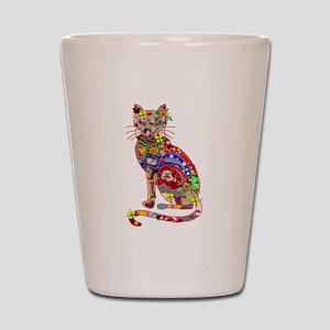 Patchwork Cat Shot Glass