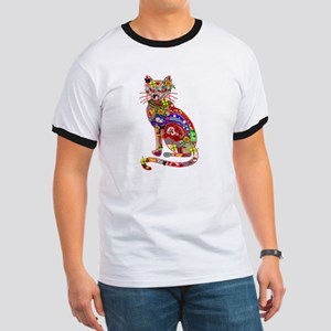 Patchwork Cat Ringer T