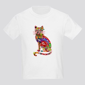 Patchwork Cat Kids Light T-Shirt