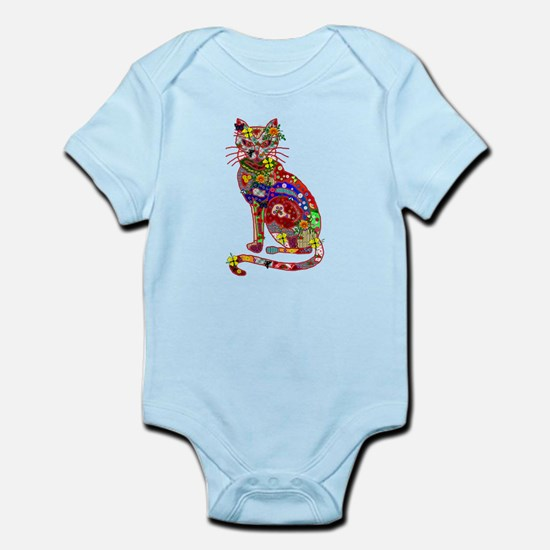 Patchwork Cat Infant Bodysuit