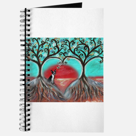 Boston Terrier Tree of Life Hearts 2 Journal
