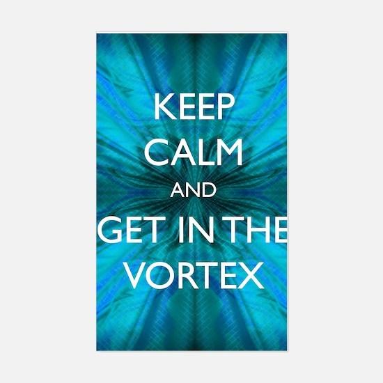 Keep Calm & Get in the Vortex Sticker (Rectangle)