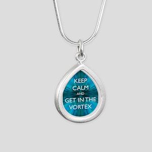 Keep Calm & Get in the Vortex Silver Teardrop Neck